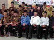 Para kafilah Lampung Utara berpose bersama sebelum berangkat menuju Bandarlampung