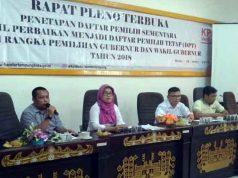 Komisiober KPU Bandarlampung pada rapat untuk membahas Parade Budaya, di Aula KPU Kota Bandarlampung, Kamis (19/4).