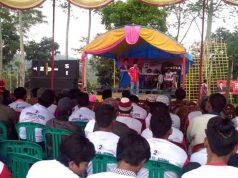 Relawan Herman HN konsolidasi di Batu Tulis, Lampung Barat, Kamis (19/4/2018).