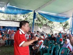 Juru bicara Herman HN, Rachmat Husein, sosialisasi di Sidomulyo, Lampung Selatan,Jumat (20/4/2018).