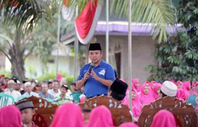 Ridho Ficardo di diPondok Pesantren Bumi Sholawat, di Kelurahan Wates, Lampung Tengah, Selasa,17 April 2018.