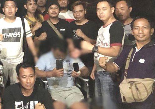 SU (22), tersangka pembunuhan korban Muhammad Berlian (20) yang dihadiahi timah panas kedua kakinya oleh Tekab 308 Polres Tulangbawang. (foto Humas Polres Tuba)
