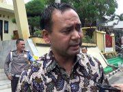 Direktur Reserse Kriminal Umum Polda Lampung, Kombes Pol Aswin Sipayung saat diwawancarai terkait diamankannya ribuan liter BBM diduga oplosan di Mapolda Lampung, Jumat 25 Mei 2018.