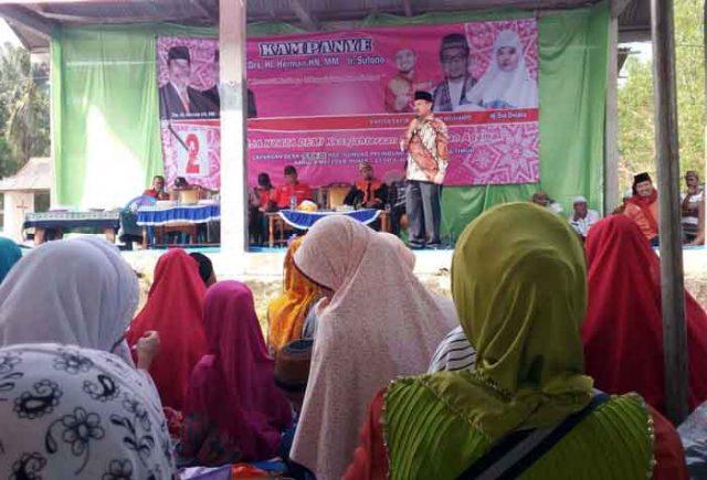 Kampanye Herman di Gunungpelindung, Lampung Timur,Rabu (9/5/2018).