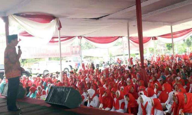 Herman HN berkampanye di Labuhan Dalam,Bandarampung,Kamis (10/5/2018).