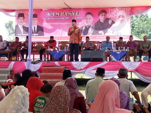 Herman HN kampanye di Tulangbawang, Senin (7/5/2018).