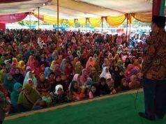 Herman HN kampanye di Sendang Agung, Lampung Tengah, Sabtu (12/5/2018)