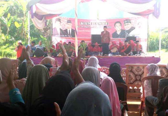 Kampanye Herman HN di Sumber Jaya, Lampung Barat,Rabu (2/5/2018).