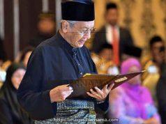 Pelantikan Mahathir Mohammad sebgai Perdana Menteri Malayasia,Kamis malam, 10 Mei 2018 (Foto: bernama.com)