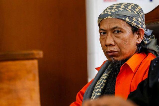 Terdakwa Aman Abdurrahman alias Oman menjalani sidang keterangan saksi di PN Jakarta Selatan, Jakarta, Jumat (23/2/2018). Foto: kompas.com