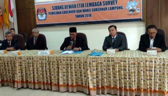 Rakata Institute Dilarang Publikasikan Hasi Survei Pilgub Lampung