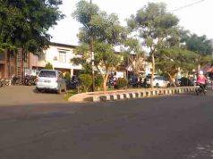 Lokasi pembacokan juru parkir dan anaknya di Stadion Pahoman, Bandarlampung