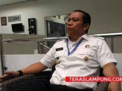 Kepala Badan Narkotika Nasional Provinsi (BNNP) Lampung, Brigjen Pol Tagam Sinaga memberikan keterangan hasil pengembanagn terkait kasus peredaran narkotika di Lapas Kalianda saat ditemui di kantornya, Rabu 16 Mei 2018 siang.