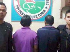 Tersangka pasutri, Hambali (58) dan Romyani (50), warga Desa Natar, Lampung Selatan yang ditangkap petugas Satuan Reserse Narkoba Polres Lampung Timur. (foto. Humas Polres Lamtim)