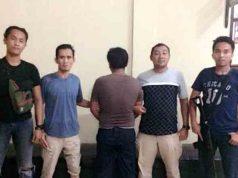 Tirta (37), tersangka pencabulan terhadap korban pelajar SD yang masih berusia 7 tahun yang diamankan petugas Unit Perlindungan Perempuan dan Anak (PPA) Polres Way Kanan (Foto Humas Polres Way Kanan)