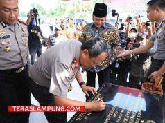 Kapolda Lampung Irjen Pol Suntana meresmikan Pos Terpadu pemeriksaan narkotika di Seaport Interdiction (SI) pintu masuk Pelabuhan Bakauheni, Lampung Selatan, Jumat 11 Mei 2018.