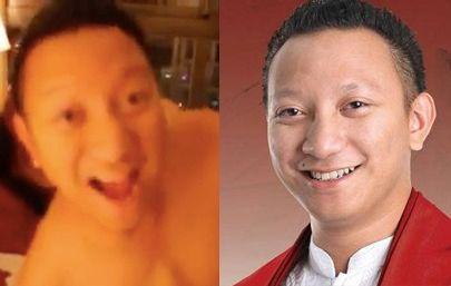Potongan video 'Aryodj di apartemen' (kiri) dan foto Aryo Djojohadikusumo (kanan). Gerindra membantah pria di video itu adalah Aryo. Foto: dok. detikcom