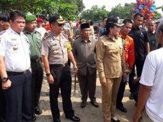 Bupati Tuangbawang dan jajaran Forkopimda sidak ke pasar, Selasa (15/5/2018).