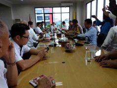 Rapat Koordinasi Antisipasi Aksi Teror Bom di Ruang Rapat Walikota Bandarampung, Rabu (16/5/2018).