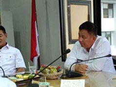 Plt Walikota Bandarlampung Yusuf Kohar (kanan) dalam rapat koordinasi di Kantor Pemkot Bandarlampung, Rabu sore (16/5).