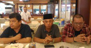 Dari kanani - Juwendra Asdiansyah, SC Kegiatan Silatnas yang juga Wakil Ketua PWNU Lampung, Ketua Panitia kegiatan Silatnas H Muhammad Irpandi, Sekretaris Panitia kegiatan Silatnas