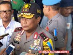 Kapolda Lampung, Irjen Suntana saat memberikan keterangan terkait arus mudik lebaran kepada awak media di Pelabuhan Bakauheni, Lampung Selatan, Rabu 13 Juni 2018.
