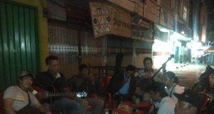 Para musisi jalanan di Pasar Mambo (Pasar Kangkung), Telukbetung, Bandarlampung