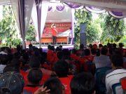 Rakor pemenangan Herman HN - Sutono di Sukadana, Lampung Timur,Rabu (20/6/2018).