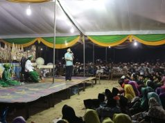 Ridho Ficardo menghadiri peringtan malam Nuzulul Quran Bersama masyarakat Gaya Baru, Lampung Tengah, Selasa (5/6/2018) malam.
