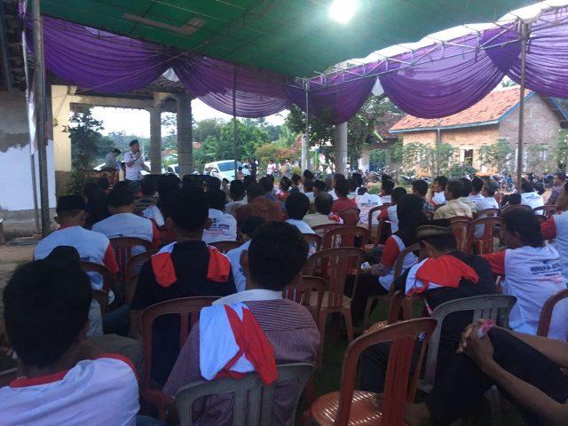 Konsolidasi relawan Sahabat Herman HN di Marga Tiga, Lampung Timur, Rabu, 13 Juni 2018.