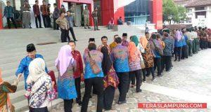 Halal bihalal Pemkot Bandarlampung, Kamis pagi (21/6/2018).