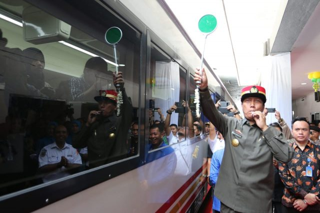 Pjs Gubernur Lampun g Didik Suprayitno meresmikan pengoperasian KA Kuala Stabas Premium, Senin, 11 Juni 2018 .KA tersebut akan melayani penumpang untuk trayek Tanjungkarang(Lampung) - Baturaja (Sumatera Selatan).