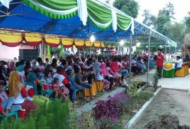 Konsolidasi Sahabat Herman HN di Labuhan Maringgai, Lampung Timur, Selasa (12/6/2018).