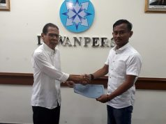 Humanika melaporkan Ketua PWI Lampung, Supriyadi Alfian, ke Dewan Pers, Senin (2/7/2018).