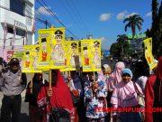 Demo di depan Kantor Gakumdu Bandarlampung, Senin (18/7/2018)