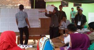 Pencoblosan Pilgub Lampung di Kelurahan Gulak-Galik, Kecamatan Telukbetung Utara Bandarlmpung, 27 Juni 2018.