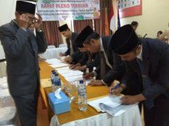Pleno KPU Pringsewu penghitungan suara Pilgub Lampung, Kamis (5/7/2018).