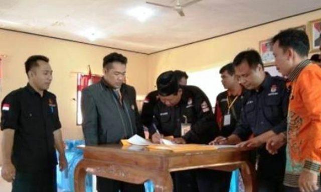 Pleno Penghitungan Suara Pilgub Lampung 2018 oleh KPU Kabupaten Mesuji, Kamis (5/7/2018).