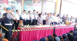 Ekspos pengungkapan kasus kriminal menjelang Asian Games di Mapolda Lampung, Senin (16 Juli 2018)
