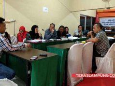 Saksi Deva Ariadi menyampaikan kesksian pada sidang dugaan money politics Pilgub Lampung yang diduga dilakukan pasangan Arinl Djunaidi-Chusnunia.