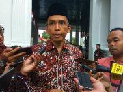 Gubernur Nusa Tenggara Barat TGB Muhammad Zainul Majdi seusai menghadiri rapat terbatas di Kompleks Istana Kepresidenan, Jakarta, 10 Agustus 2018. TEMPO/Ahmad Faiz