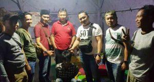Pelaku begal, Oki Sanjaya (19), warga Bujung Tenuk, Desa Menggala, Tulangbawang saat dibekuk Tim Gabungan Tekab 308 di Desa Candimas, Kecamatan Natar, Lampung Selatan.