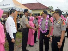 Kapolda Lampung, Irjen Pol Purwadi Arianto didampingi Kapolres Tulangbawang, AKBP Raswanto Hadiwibowo saat kunjungan kerjanya di Mapolres Tulangbawang.,Jumat (21/9/2018)