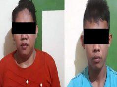 ersangka pengedar narkoba, SRU (24) dan JAE (21), warga Kampung Sukamaju, Kecamatan Bumi Agung, Way Kanan yang diamankan petugas Satresnarkoba Polres Way Kanan.