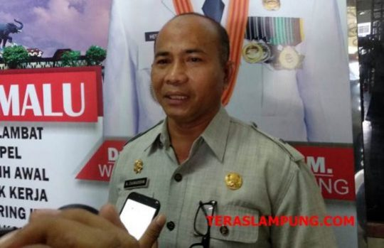 Kepala Dinas Kependudukan dan Catatan Sipil (Disdukcapil) Kota Bandarlampung Zainuddin