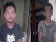 Maryanto (29) dan dan Irham (26), keduanya warga Desa Jagorajo, Kecamatan Rantau Panjang, Kabupaten Ogan Ilir, Sumatera Selatan yang diamankan Polsek Rawajitu Selatan
