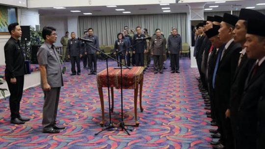 Pj Sekdaprof Lampung Hamartoni Ahadis melantik 97 pejabat fungsional Pemprov Lampung
