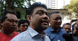 Presiden Konfederasi Serikat Pekerja Indonesia (KSPI) Said Iqbal diperiksa kasus Ratna Sarumpaet di Polda Metro Jaya, Jumat, 26 Oktober 2018. TEMPO/Lani Diana