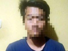 Tersangka FR (22), warga Rajabasa, Kedaton, Bandarlampung yang ditangkap petugas Satres Narkoba Polres Lampung Timur.