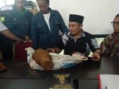 Benda yang diduga bom yang ditemukan warga Natar, Lampung Selatan.